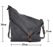 Hobo Bag,Coofit Canvas Crossbody Messenger Bag Shouder Bag Handbag for Women Men's