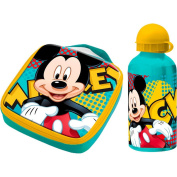 Set snack bag and water bottle Mickey Mouse