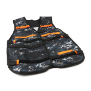 Camouflage Adjustable Tactical Vest For 12 Darts and 4 Ammo Clips In Nerf N-Strike Games