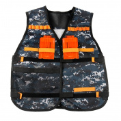 Camouflage Adjustable Tactical Vest for Nerf N-Strike Games