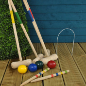 4 Player Complete Wooden Croquet Set by Parkland
