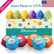 RoseVale Bath Bomb Gift Sets - 100% Hand Made in USA with all Natural Ingredients - for Aroma filled Bath of Relaxation and Natural Healing - 100% Satisfied or 100% Money Back