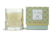 Vera Bradley Vanilla Sea Salt Scented Glass Decorative Candle in Gift Box
