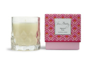 Vera Bradley Macaroon Rose Scented Glass Decorative Candle in Gift Box