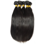 BEFA Hair 3 Bundles Brazilian Virgin Hair Straight Grade 7A Unprocessed Virgin Human Hair Weave Natural Colour Tangle-free