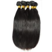BEFA Hair 3 Bundles Brazilian Virgin Hair Straight Grade 7A Unprocessed Virgin Human Hair Weave Natural Colour Tangle-free