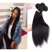 36cm 41cm 46cm 50cm inches 100% Brazilian Natural Straight Human Hair Weave Extensions 4 Bundles/lot Natrual Black