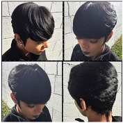 Brazilian Virgin Hair 27 Pieces Short Human Hair Weave With Free Closure 27 Piece Weave Human Hair 3 Pcs Tissage Bresilienne