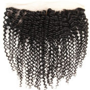 Hotbaby Hiar Brazilian Kinky Curly Virgin Hair Closure 13*4 Human Hair Middle Three Free Part Frontal Lace Closure