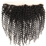 Hotbaby Hiar Brazilian Kinky Curly Virgin Hair Closure 13*4 Human Hair Middle Three Free Part Frontal Lace Closure