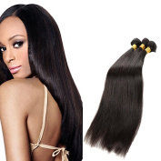 MYS Hair Indian Human Straight Hair 3 Bundles 60cm 70cm 70cm 300g Natural Black