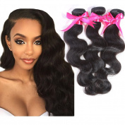 Peruvian Body Wave hair Black Colour Human Hair 3 Bundles 300g 24 24 70cm