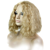 Wig Mall Women Fashion Wig Short BOBO Corn Wave Natural Middle Parting Synthetic Blonde