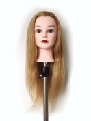Honey Qiao 41cm Inch 100% Human Hair Training Practise Head Styling Dye Cutting Mannequin Manikin Head 613# Colour