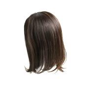 """Monofilament """"Band-Fall"""" (half-wig) Womens Human hair Topper-#10cm - 25cm -Wavy Hair Texture"""