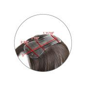 "Knot-free! ""Middle-Part"" Human Hair Women's Topper-#20cm /15cm - 41cm -Wavy Hair Texture"
