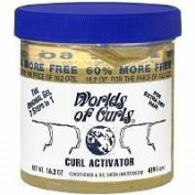 Worlds Of Curls Curl Activator Conditioner & Oil Sheen Gel - 2pc