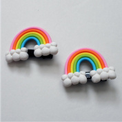 4 pieces Lovely three-dimensional elastic Rainbow hairpins/ Hair Clips for baby & toddler & Children & girl +Free Top-ishop Cable Tie