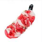 Rosehair 002-30 Red flower Hair Barrettes Banana Clip Hair Accessory Banana Clip