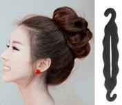 1Pc Elegant French Twist Holder Magic Roll Clip Donut Bun Hook Former Pads Foam Sponge Hair Maker Braid Ponytail Hairstyle Styling Tool Accessory