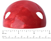 French Amie Oval Arch Red Handmade Ponytail Holder Hair Updo Bun Cover Cap with Stick