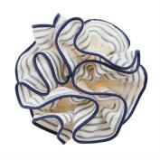 Rosehair 002-21 Navy Blue Stripe Scrunchy for Ponytail Hair Accessory Hair Elastics