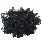 Rosehair 002-12 Lace Scrunchy for Ponytail Hair Elastics