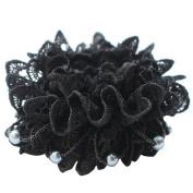 Rosehair 002-12 Lace Scrunchy for Ponytail Hair Elastics
