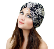 Metallic Crystal Stretch Turban