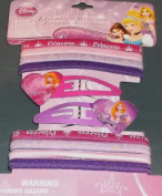 Hair Accessory Set - Disney Princess - Hair Elastics and Snap Clips - Aurora & Rapunzel