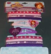 Hair Accessory Set - Disney Princess Sofia The First - Hair Elastics and Snap Clips