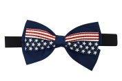 USA American Flag Womens Patriotic American Flag Bow Elastic Headband