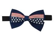 USA American Flag Womens Patriotic American Flag Bow Elastic Headband