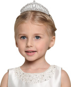 Party Children Flower Girl Crystal Rhinestones Heart Shaped Crown Headband Tiara