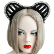 Joyci 1pcs Sexy Cute Hairband Christmas Cos Night Clubs Setup Three-dimensional Female Cat Ear Hair Band