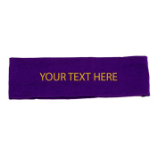 Athletic Allure Custom Foil Printed Knit Headband, Purple
