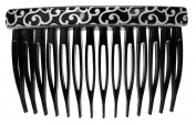 France Luxe Basic Side Comb - Silver Barocco