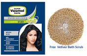 Super Vasmol Aamla Powder Hair Colour - Natural Black 6 x 8g Sachets + Free Vetiver Bath Scrub