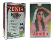 2016 Jamila Henna Hair Colour Dye + Zenia Henna 100 grammes