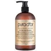 Pura d'or Premium Organic Anti-Hair Loss Shampoo, Gold, 470ml - 2pc