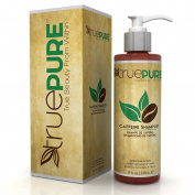 TruePure Natural Caffeine Shampoo With CoffeePure Complex - Fragrance Free, Non-GMO, Paraben & Sulphate Free Formula For Hair Loss Prevention & Healthy Hair Growth - 240ml