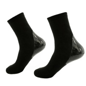 Makhry 2 Pairs Moisturising Silicone Gel Socks for Dry Hard Cracked Skin Open Toe Comfy Recovery Socks Men Size 6-11