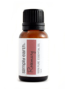 Rosemary Essential Oil by Simply Earth - 15 ml, 100% Pure Therapeutic Grade