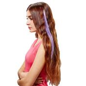 HP95(TM) Popular!Fashion 40cm Gradient Stripe Clip-on Straight Beautiful Wig Hot