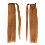 BEAUTY PLUS Real Human Hair Ponytail Hairpiece for Beauty, 22inchs(55-60cm) with 3 Volume in 9 Colours