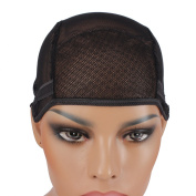 Wig Mall Wig Cap with Adjustable Straps Ultra Stretchy Nets Black Small