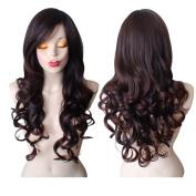 Dark Brown Wig Long High Quality Wavy Curly Dark Brown Cosplay Wig Deep Brown Wigs For Women by Grimm Hair®