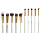 Premium Synthetic Kabuki Makeup Brush Set - The Perfect Cosmetic Brushes for Your Eyeshadow, Contour Kit, Blush, Foundation, Concealer Face Powder and Eyeliner