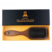 Natural Boar Bristle Paddle Hair Brush - 100% Boar Bristle with Wooden Handle - Easily Detangles Hair, Massages Scalp and Keeps Hair Naturally Oiled and Conditioned -GAINWELL