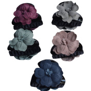 Bzybel Flower Plastic Hair Claw Fashion Hair Clips for Girls Women Ladies